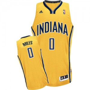 Hombre Camiseta C.J. Miles #0 Indiana Pacers Adidas Alternate Oro Swingman