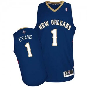 Camiseta NBA Authentic Tyreke Evans #1 Road Azul marino - New Orleans Pelicans - Hombre