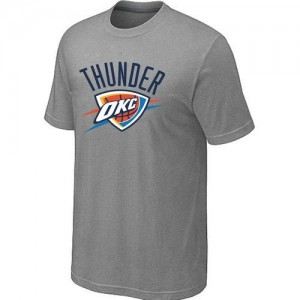 T-Shirts NBA Oklahoma City Thunder Big & Tall Gris - Hombre