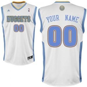 Hombre Camiseta Swingman Personalizadas Denver Nuggets Adidas Home Blanco
