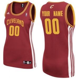Camiseta NBA Cleveland Cavaliers Swingman Personalizadas Road Adidas Vino Rojo - Mujer