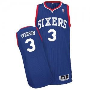 Camiseta NBA Alternate Philadelphia 76ers Azul real Authentic - Hombre - #3 Allen Iverson