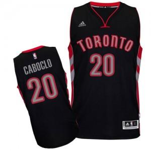 Camiseta Swingman Bruno Caboclo #20 Toronto Raptors Alternate Negro - Hombre