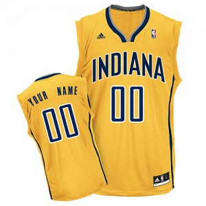 Camiseta NBA Alternate Indiana Pacers Oro - Hombre - Personalizadas Swingman