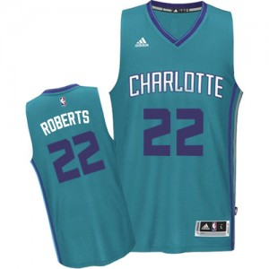 Camiseta Authentic Brian Roberts #22 Charlotte Hornets Road Azul claro - Hombre