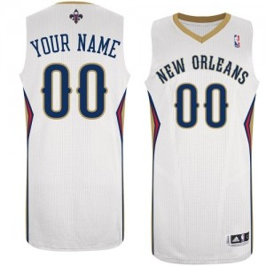 Camiseta NBA Authentic Personalizadas Home Blanco - New Orleans Pelicans - Mujer