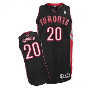 Camiseta Authentic Bruno Caboclo #20 Toronto Raptors Alternate Negro - Hombre