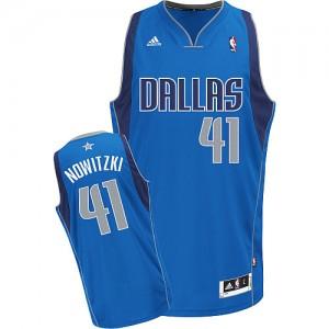 Camisetas Baloncesto Adolescentes NBA Dallas Mavericks Road Swingman Dirk Nowitzki #41 Azul real