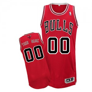 Camiseta NBA Chicago Bulls Authentic Personalizadas Road Adidas Rojo - Adolescentes