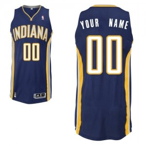 Camiseta NBA Road Indiana Pacers Azul marino - Hombre - Personalizadas Authentic