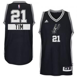Camiseta Swingman Tim Duncan #21 San Antonio Spurs 2014-15 Christmas Day Negro - Adolescentes