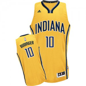 Hombre Camiseta Chase Budinger #10 Indiana Pacers Adidas Alternate Oro Swingman