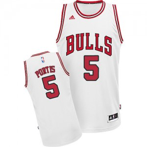 Camiseta NBA Chicago Bulls Bobby Portis #5 Home Adidas Blanco Swingman - Hombre