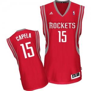 Camisetas Baloncesto Hombre NBA Houston Rockets Road Swingman Clint Capela #15 Rojo