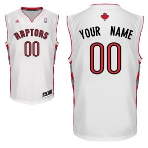 Toronto Raptors Adidas Home Blanco Camiseta de la NBA - Swingman Personalizadas - Hombre