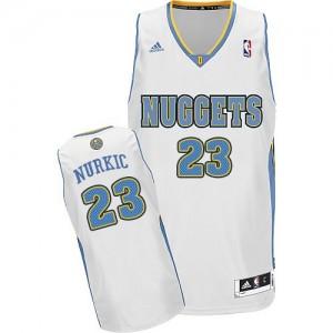 Camiseta NBA Denver Nuggets Jusuf Nurkic #23 Home Adidas Blanco Swingman - Hombre