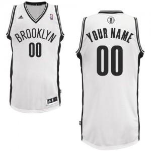 Brooklyn Nets Adidas Home Blanco Camiseta de la NBA - Swingman Personalizadas - Hombre