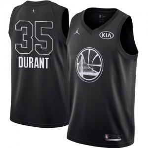 Camiseta Golden State Warriors Kevin Durant #35 2018 All-Star Game Jordan Negro Swingman Niño