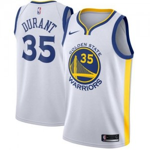 Niño Camiseta Kevin Durant #35 Golden State Warriors Blanco Swingman