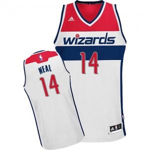 Camiseta NBA Home Washington Wizards Blanco Swingman - Hombre - #14 Gary Neal