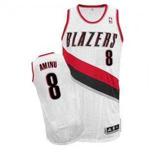 Camisetas Baloncesto Hombre NBA Portland Trail Blazers Home Authentic Al-Farouq Aminu #8 Blanco