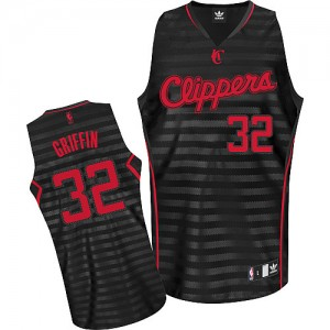 Camisetas Baloncesto Hombre NBA Los Angeles Clippers Groove Authentic Blake Griffin #32 Gris oscuro