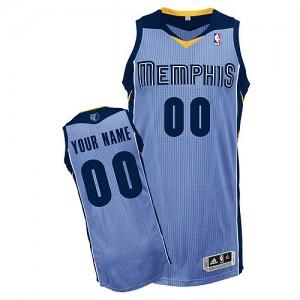 Camisetas Baloncesto Hombre NBA Memphis Grizzlies Alternate Authentic Personalizadas Azul claro