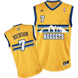 Camiseta NBA Denver Nuggets JJ Hickson #7 Alternate Adidas Oro Swingman - Hombre