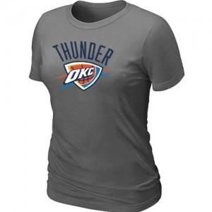 T-Shirts NBA Oklahoma City Thunder Big & Tall Gris oscuro - Mujer