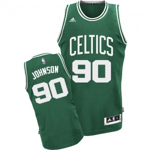 Camiseta Swingman Amir Johnson #90 Boston Celtics Road Verde (Blanco No.) - Hombre