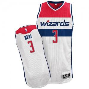 Camiseta NBA Home Washington Wizards Blanco Authentic - Hombre - #3 Bradley Beal