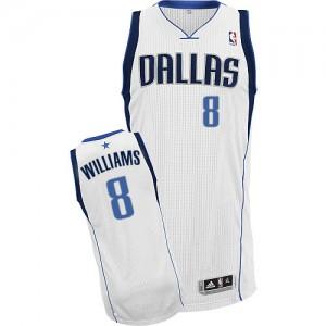 Dallas Mavericks Adidas Home Blanco Authentic Camiseta de la NBA - Deron Williams #8 - Hombre