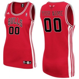 Camiseta NBA Chicago Bulls Authentic Personalizadas Road Adidas Rojo - Mujer