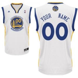 Golden State Warriors Adidas Home Blanco Camiseta de la NBA - Swingman Personalizadas - Adolescentes