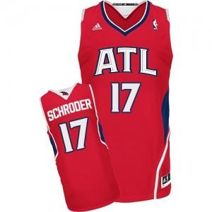 Camiseta NBA Alternate Atlanta Hawks Rojo Swingman - Hombre - #17 Dennis Schroder