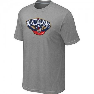 T-Shirts NBA Big & Tall New Orleans Pelicans Gris - Hombre