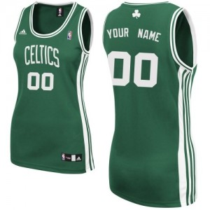 Camiseta NBA Boston Celtics Swingman Personalizadas Road Adidas Verde (Blanco No.) - Mujer