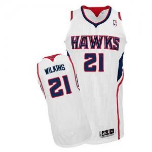 Camiseta NBA Home Atlanta Hawks Blanco Authentic - Hombre - #21 Dominique Wilkins