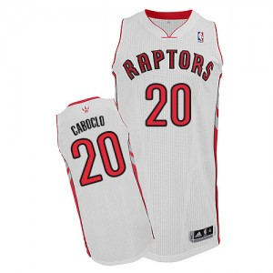 Camiseta Authentic Bruno Caboclo #20 Toronto Raptors Home Blanco - Hombre
