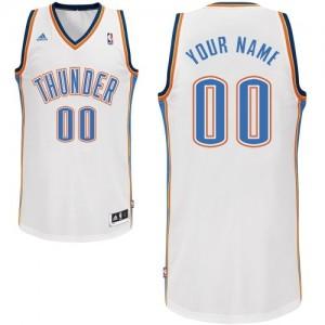 Camisetas Baloncesto Adolescentes NBA Oklahoma City Thunder Home Swingman Personalizadas Blanco