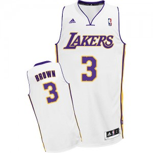 Los Angeles Lakers Adidas Alternate Blanco Swingman Camiseta de la NBA - Anthony Brown #3 - Hombre