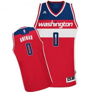 Camiseta NBA Road Washington Wizards Rojo Swingman - Hombre - #0 Gilbert Arenas