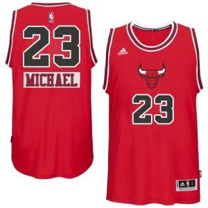 Chicago Bulls Adidas 2014-15 Christmas Day Rojo Swingman Camiseta de la NBA - Michael Jordan #23 - Hombre