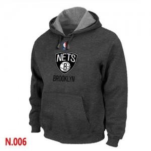 Brooklyn Nets Gris oscuro Sudadera de la NBA - Hombre