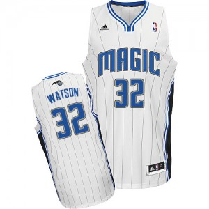 Hombre Camiseta C.J. Watson #32 Orlando Magic Adidas Home Blanco Swingman