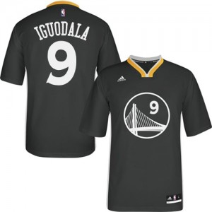 Camisetas Baloncesto Hombre NBA Golden State Warriors Alternate Authentic Andre Iguodala #9 Negro