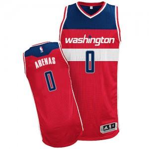 Camiseta NBA Road Washington Wizards Rojo Authentic - Hombre - #0 Gilbert Arenas