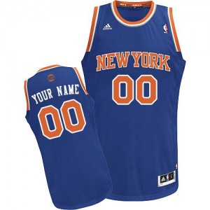 Adolescentes Camiseta Swingman Personalizadas New York Knicks Adidas Road Azul real