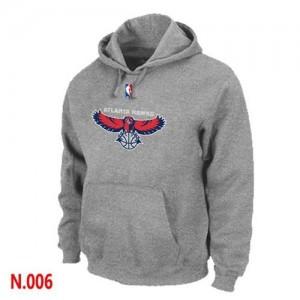 Atlanta Hawks Gris Sudadera de la NBA - Hombre