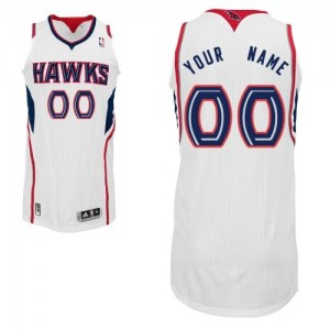 Camiseta NBA Authentic Personalizadas Home Blanco - Atlanta Hawks - Adolescentes